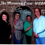 WLBR morning Crew. Laura LeBeau, Gordon Wise, Greg Lyons and Mike Ebersole.