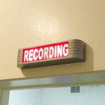 WLBR on-site recording sign.