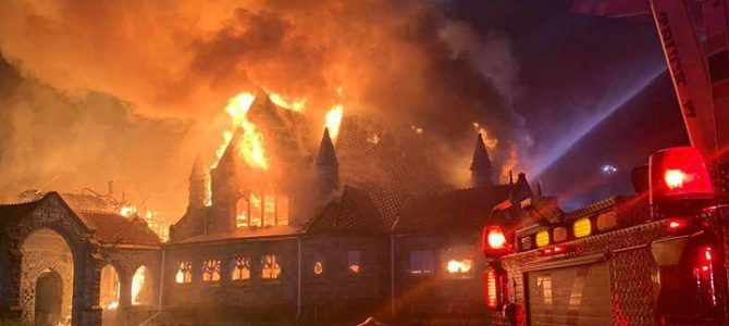 Historic Chester church destroyed in overnight fire